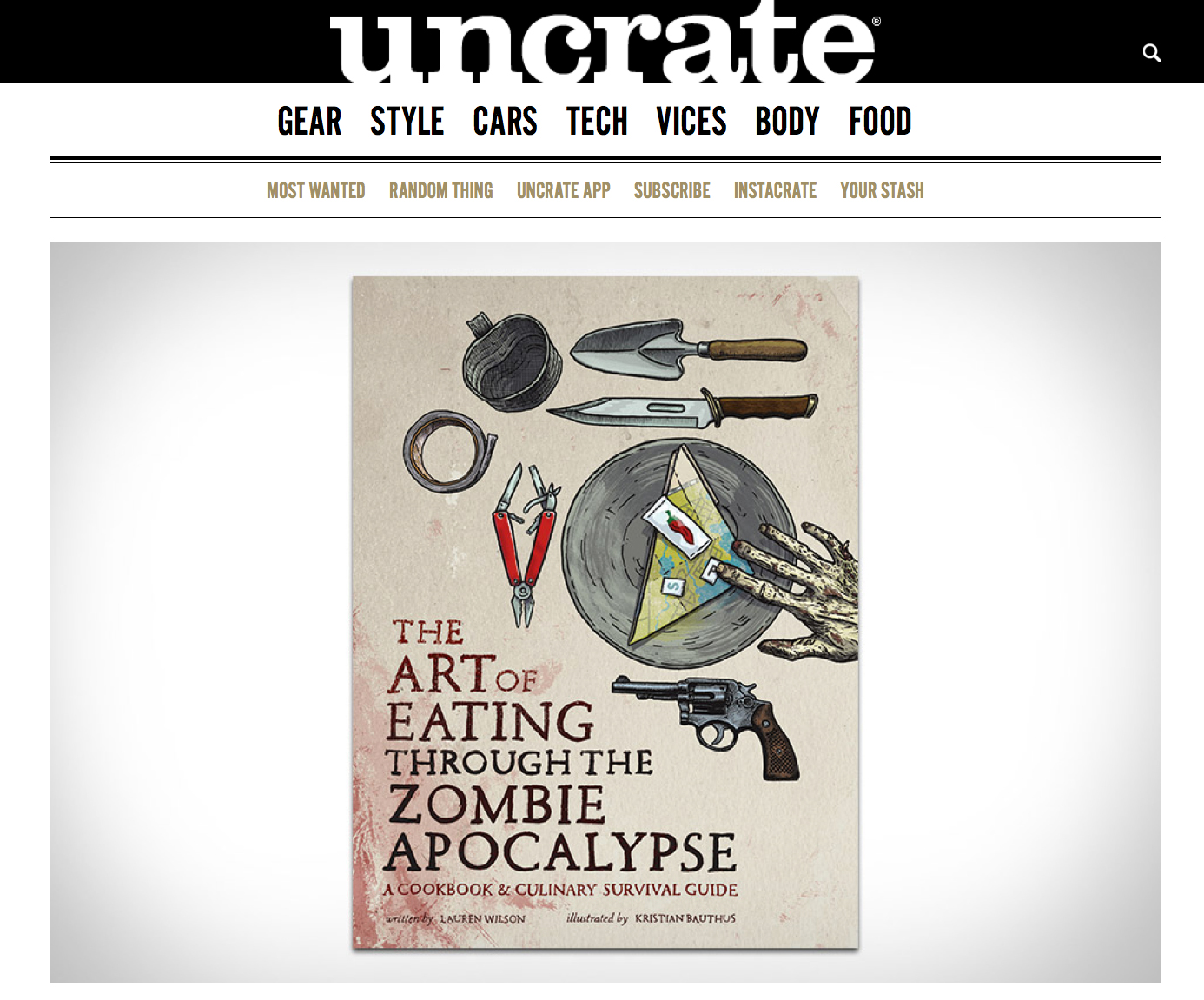 You can buy The Art of Eating Through the Zombie Apocalypse on Uncrate.com