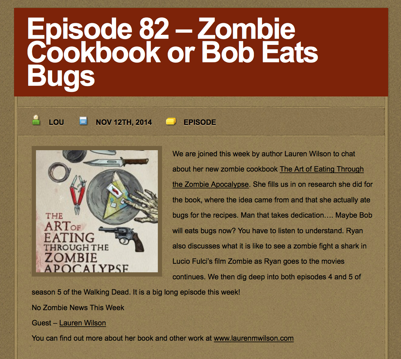 I nerd out with the fellas at Zombies Ate My Podcast!