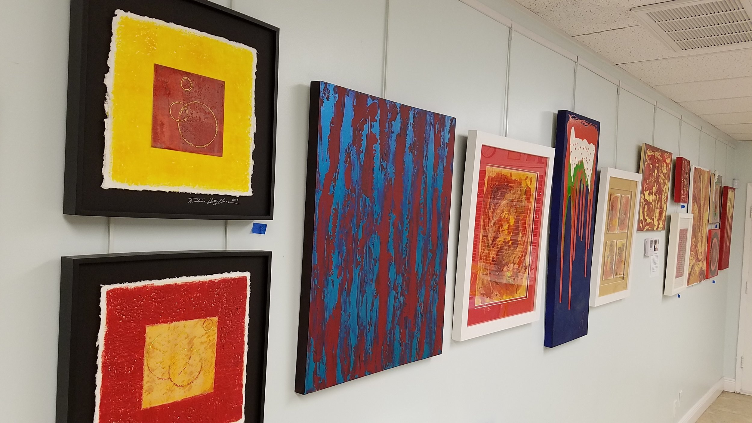 Sneak peek at my artwork going up for the TRAX Art Studios RED HOT SUMMER Art Show.
