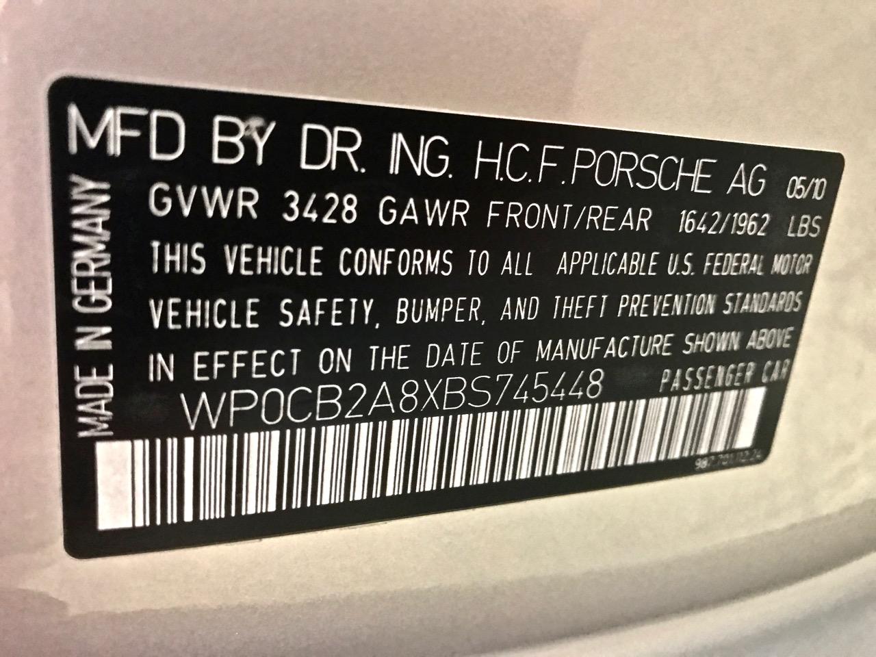 2011 Porsche Boxster Spyder (BS745448) - 25.jpg
