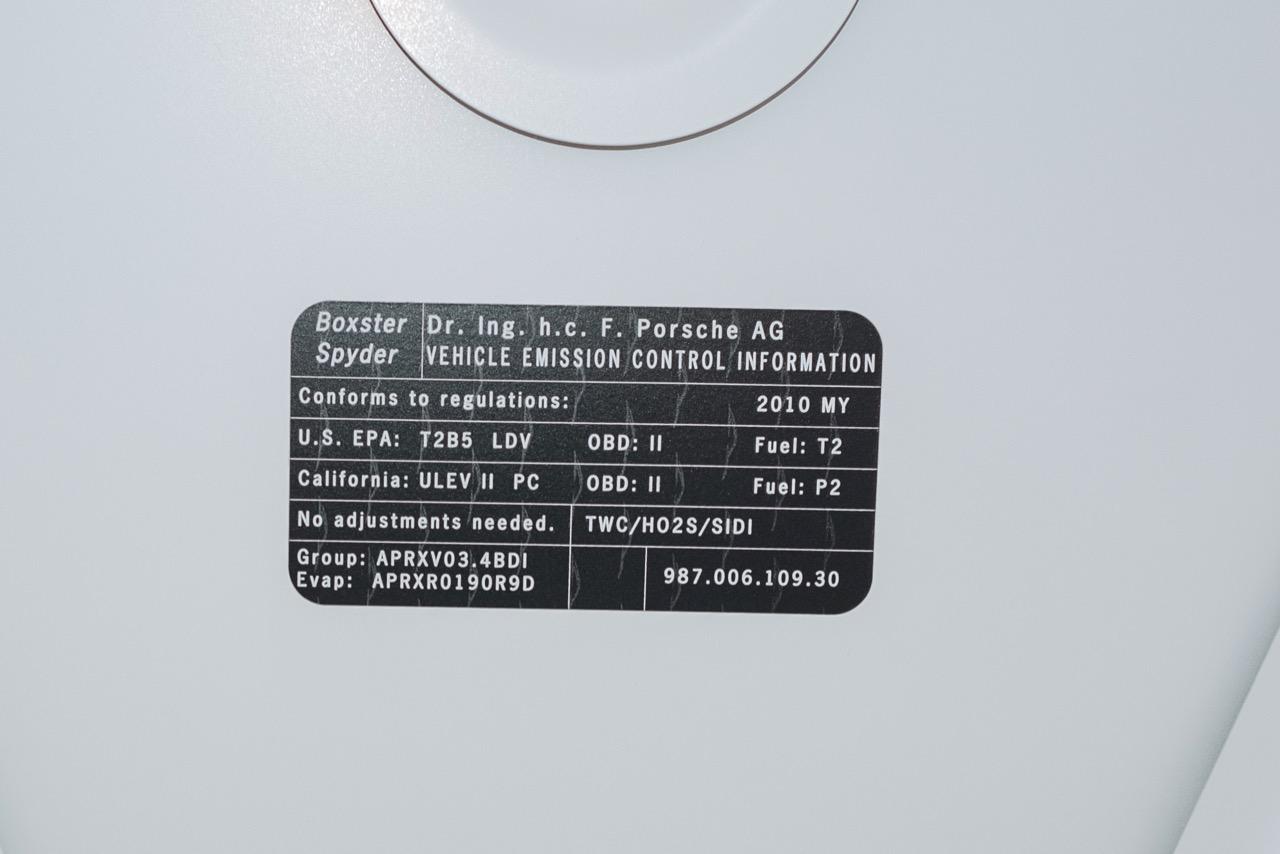 2011 Porsche Boxster Spyder (BS745117) - 128.jpg