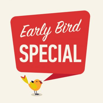 "Until 08/31, use coupon ""EARLYBIRD2019_R"" for 10% off"