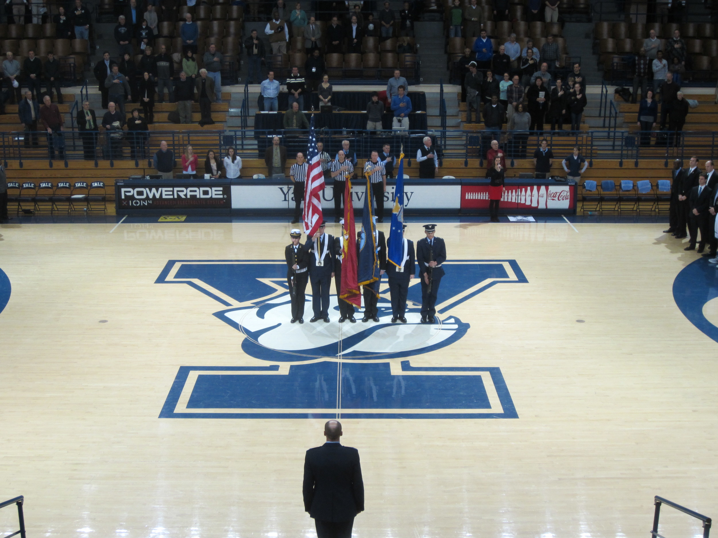 2013.2.22 - Honor Guard at Yale vs. Dartmouth basketball game 002.jpg