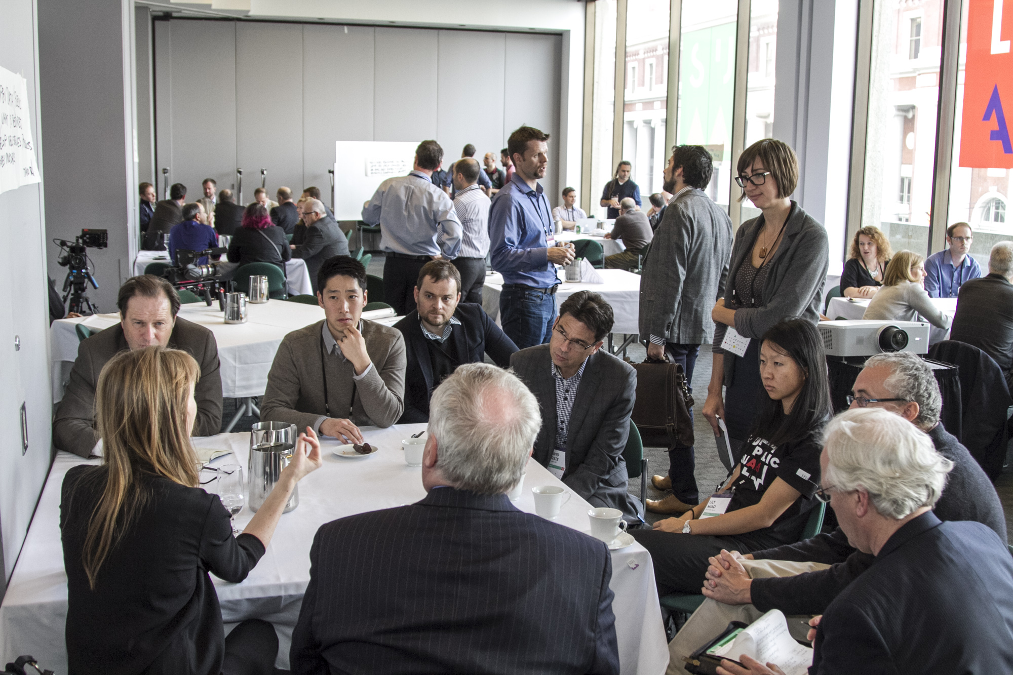 Open Space discussions during Data Leadership Summit 2014 | Photo by Mark Kinskofer
