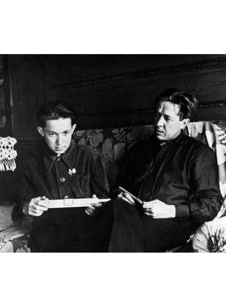 4.4 ┆     Aleksandr Solzhenitsyn and Sergei   Frolov (a favorite student of the author's at   Mezinovka school).   1956–57