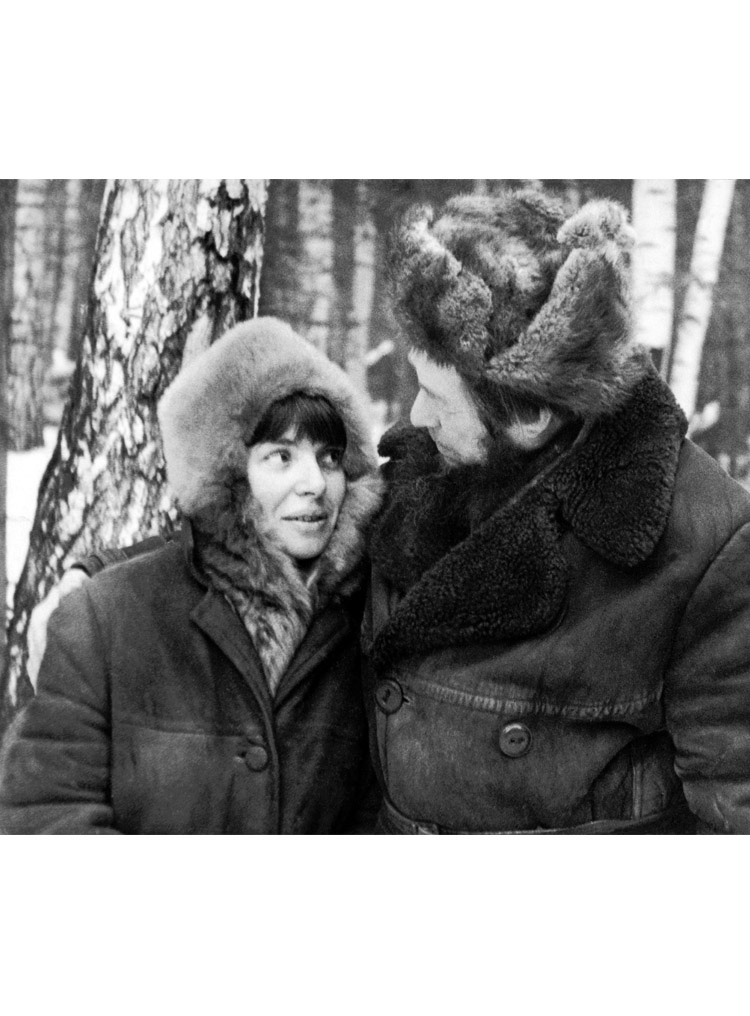6.8┆    Natalia (second wife) and Aleksandr Solzhenitsyn.   1972