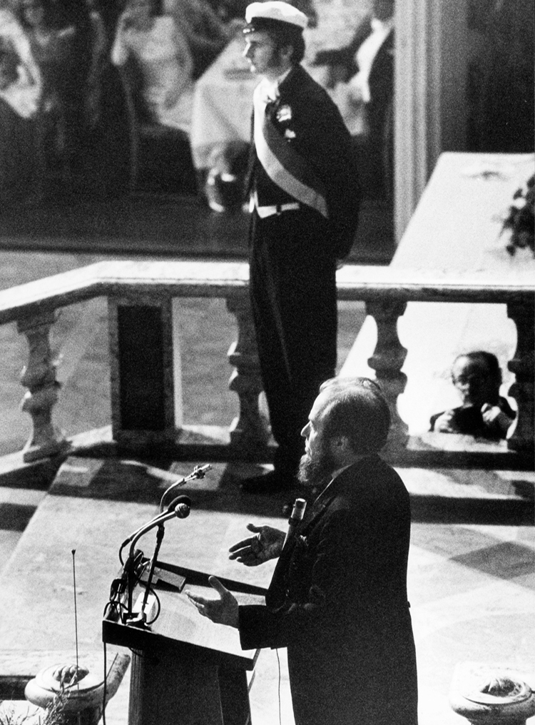 7.19┆Nobel speech of Aleksandr Solzhenitsyn.   Stockholm, 10 December 1974 Credit: Jan Collsiöö. © Pressens Bild AB