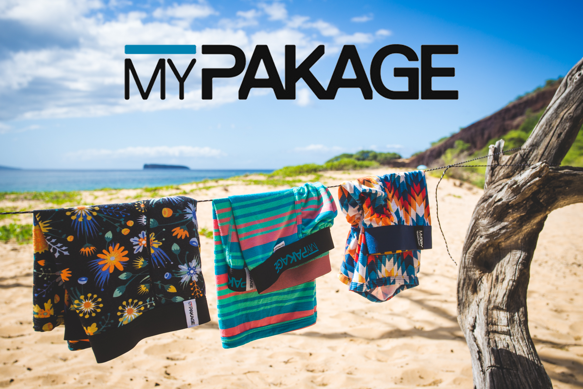 Print, web, and social media advertising images produced for MyPakage.