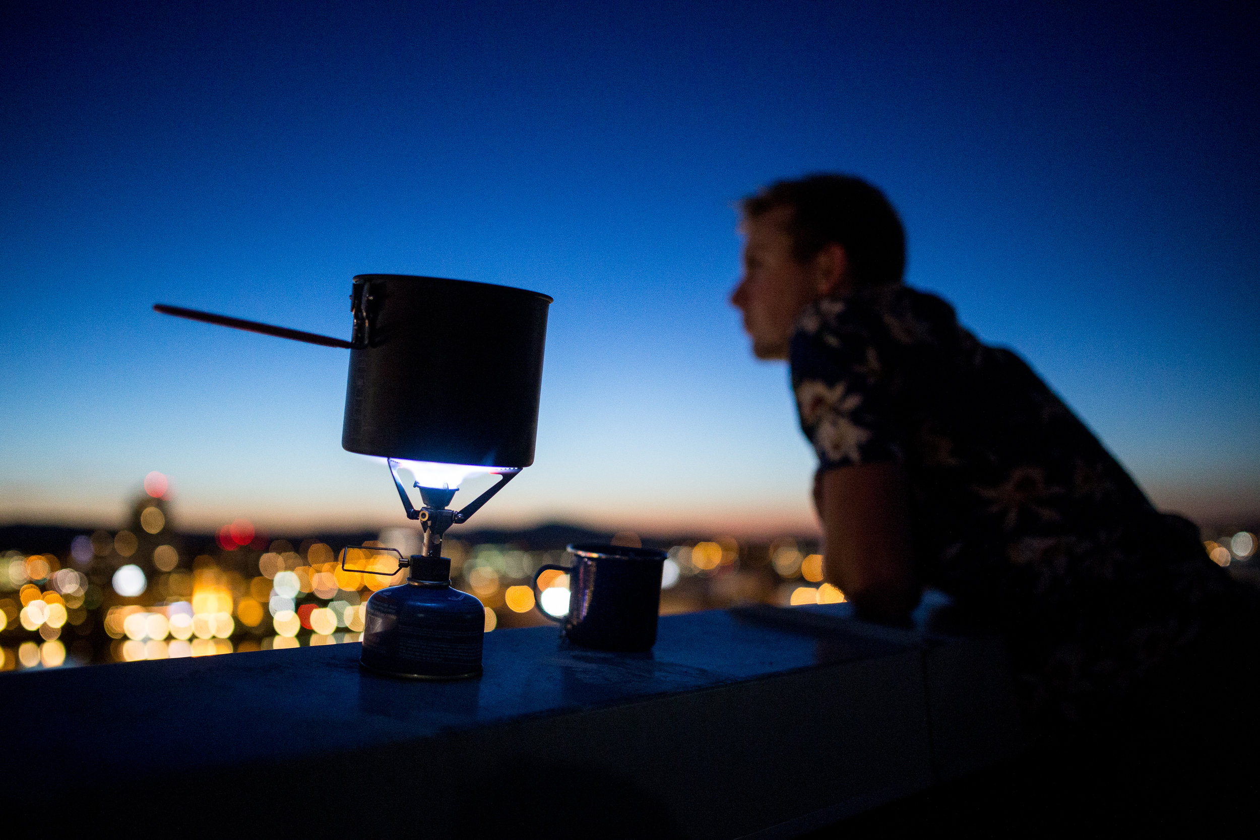 MSR Stove on Rooftop