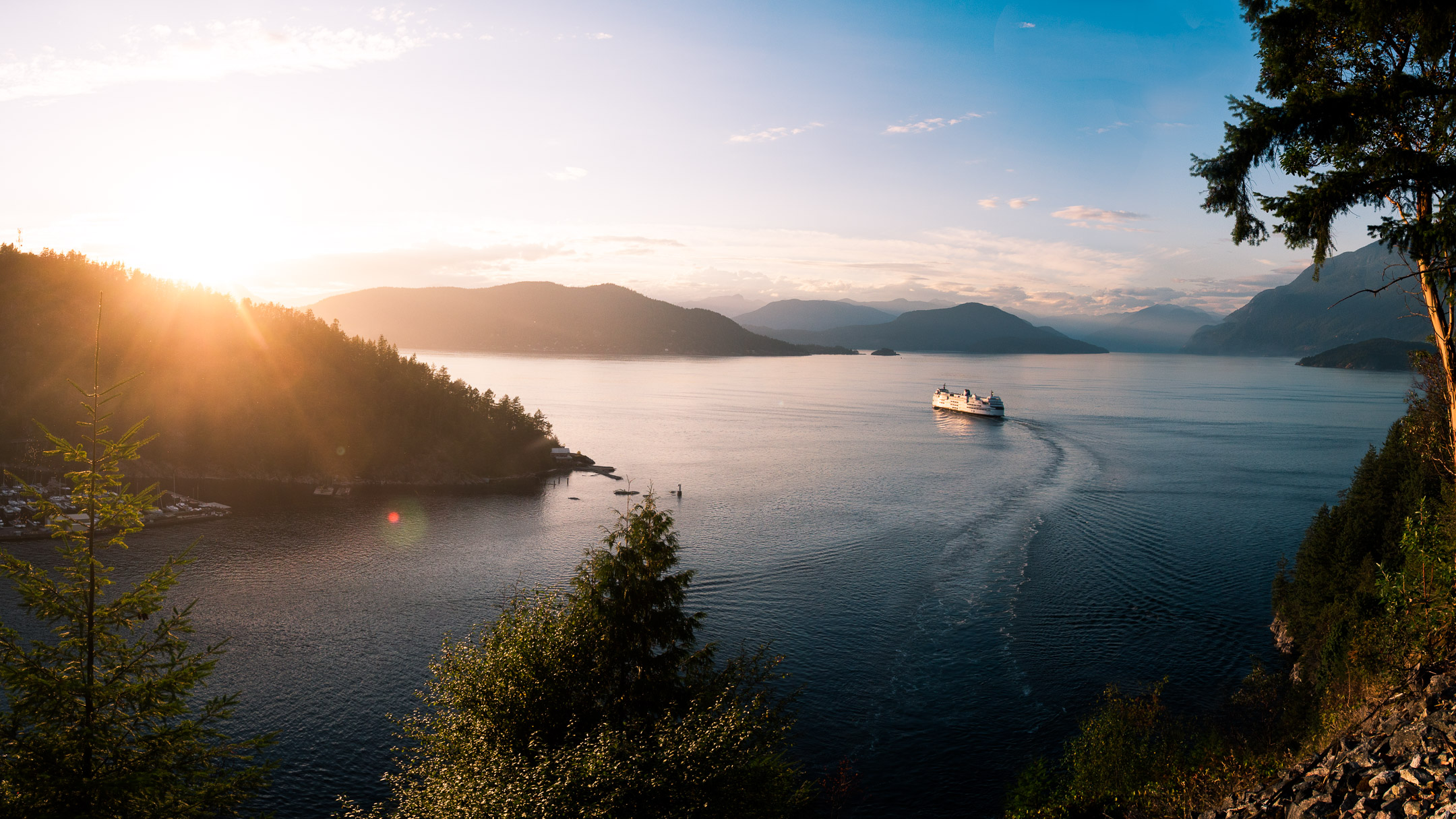 BC Ferries West Coast Sunset
