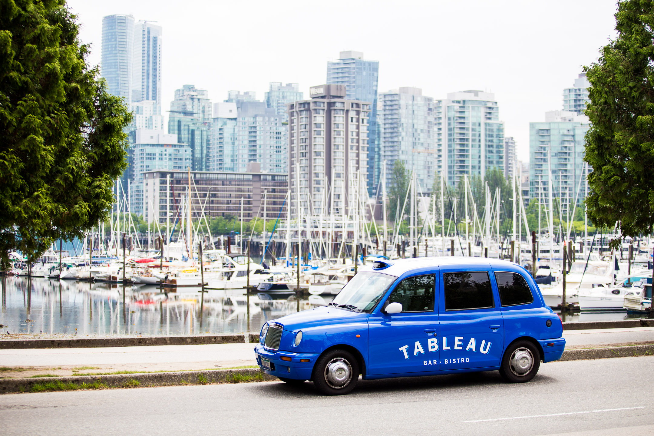 Tableau Car at Stanley Park