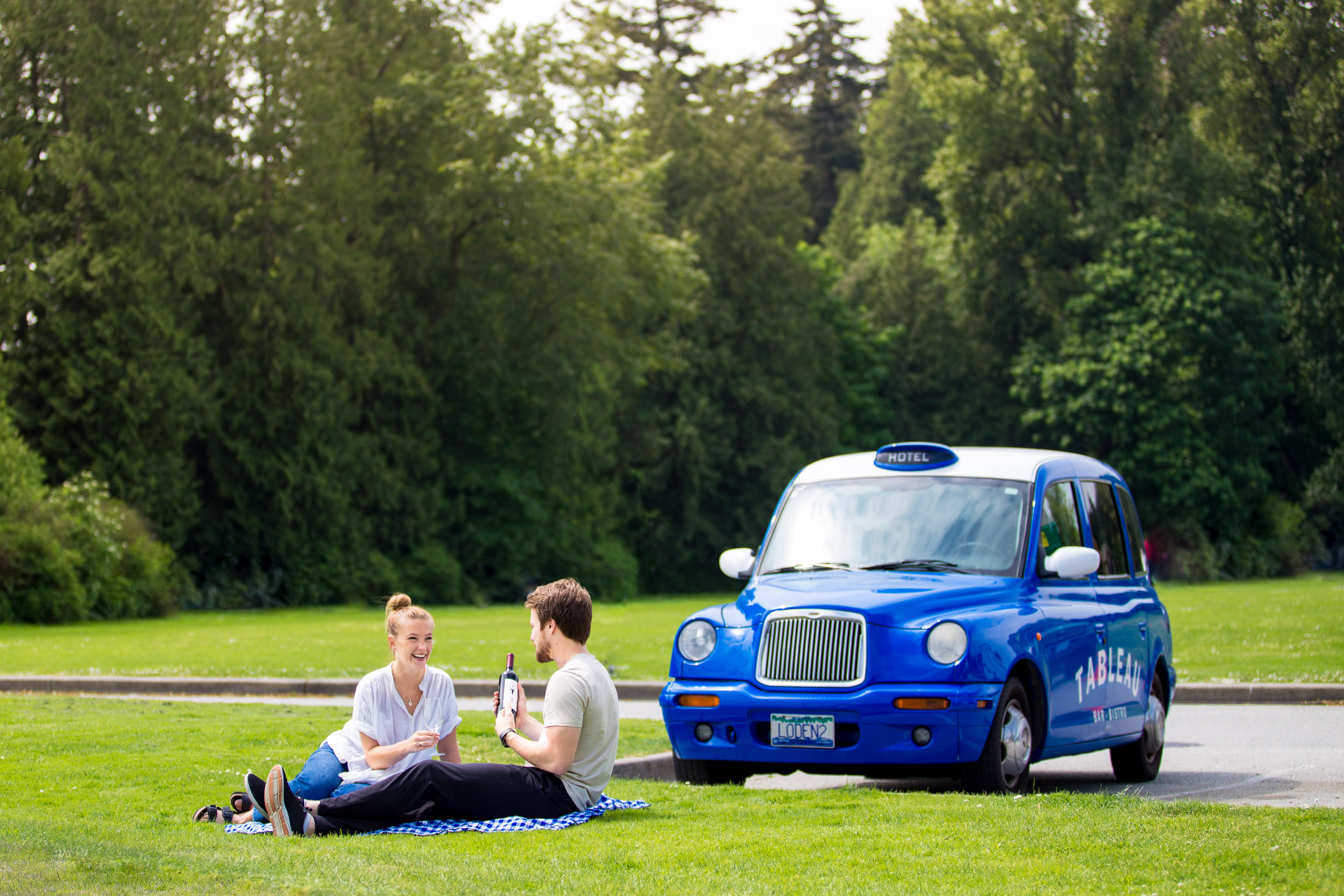 Tableau Car Picnic at Stanley Park