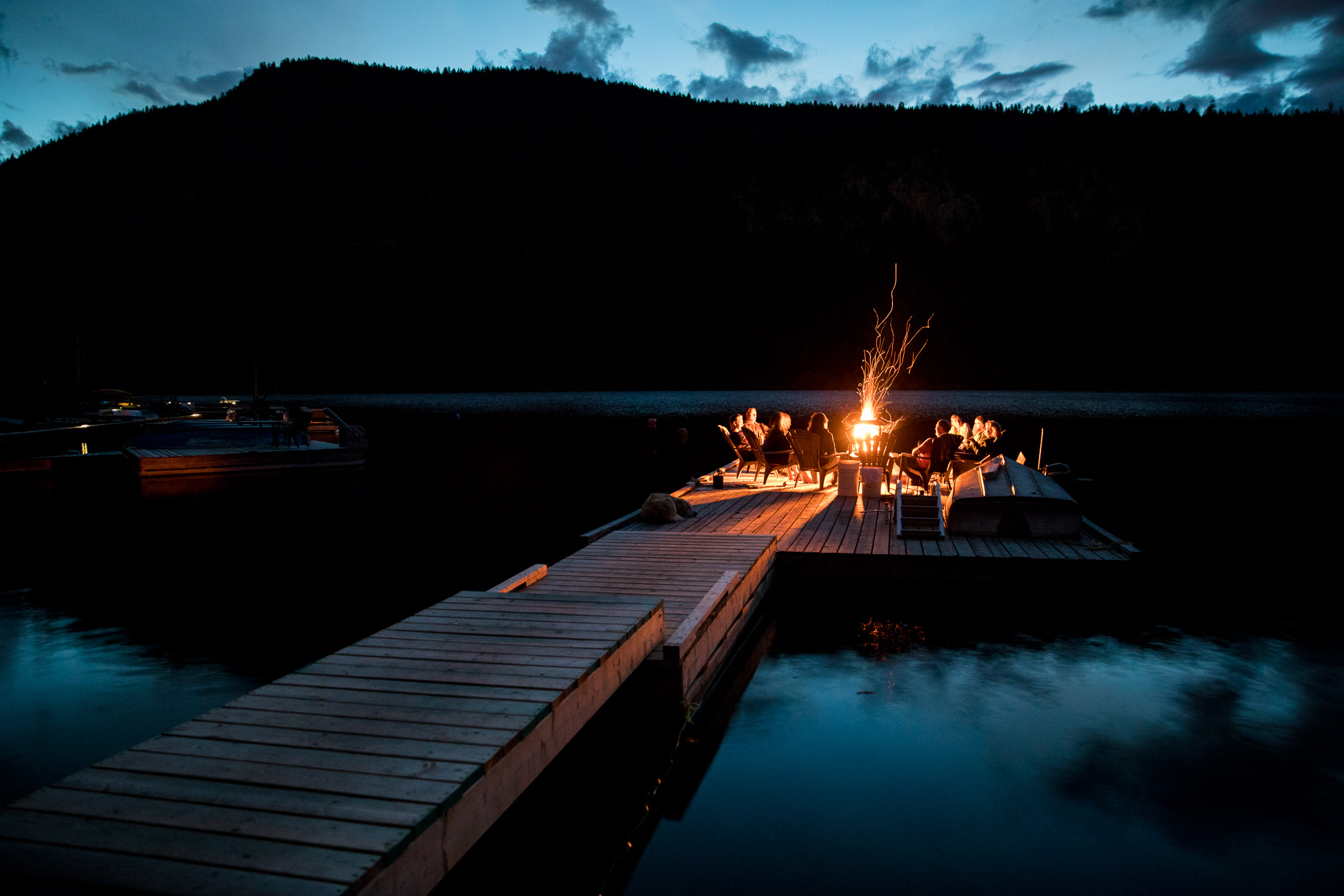 Dusk Bonfire on Lake.jpg