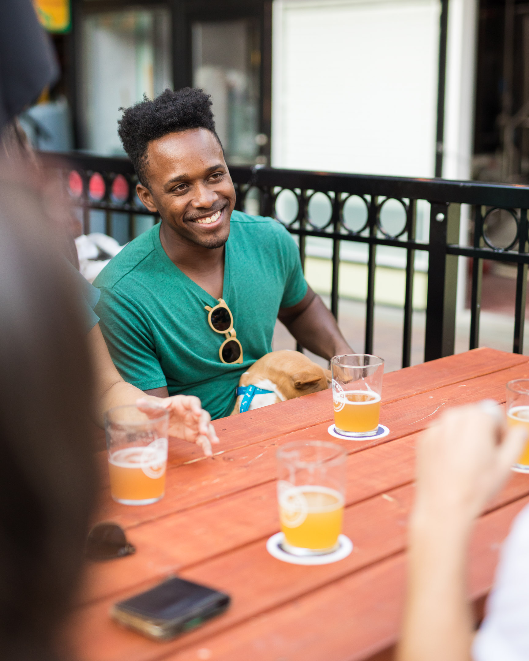 Smiling Guy on Patio