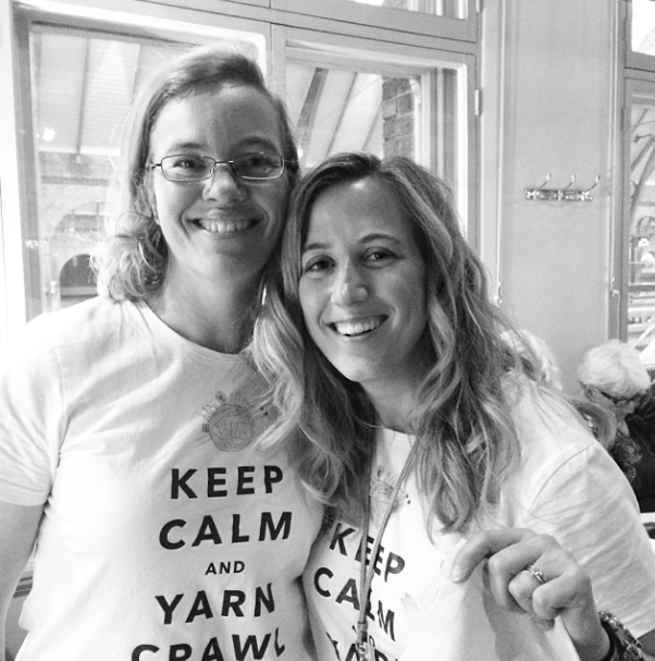 Rachel and Allison at The Great London Yarn Crawl 2014  Photo credit: Helen Stewart of Curious Handmade