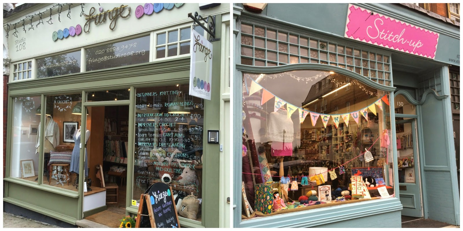 Two of the new shops that joined us this year: Fringe and Stitch Up