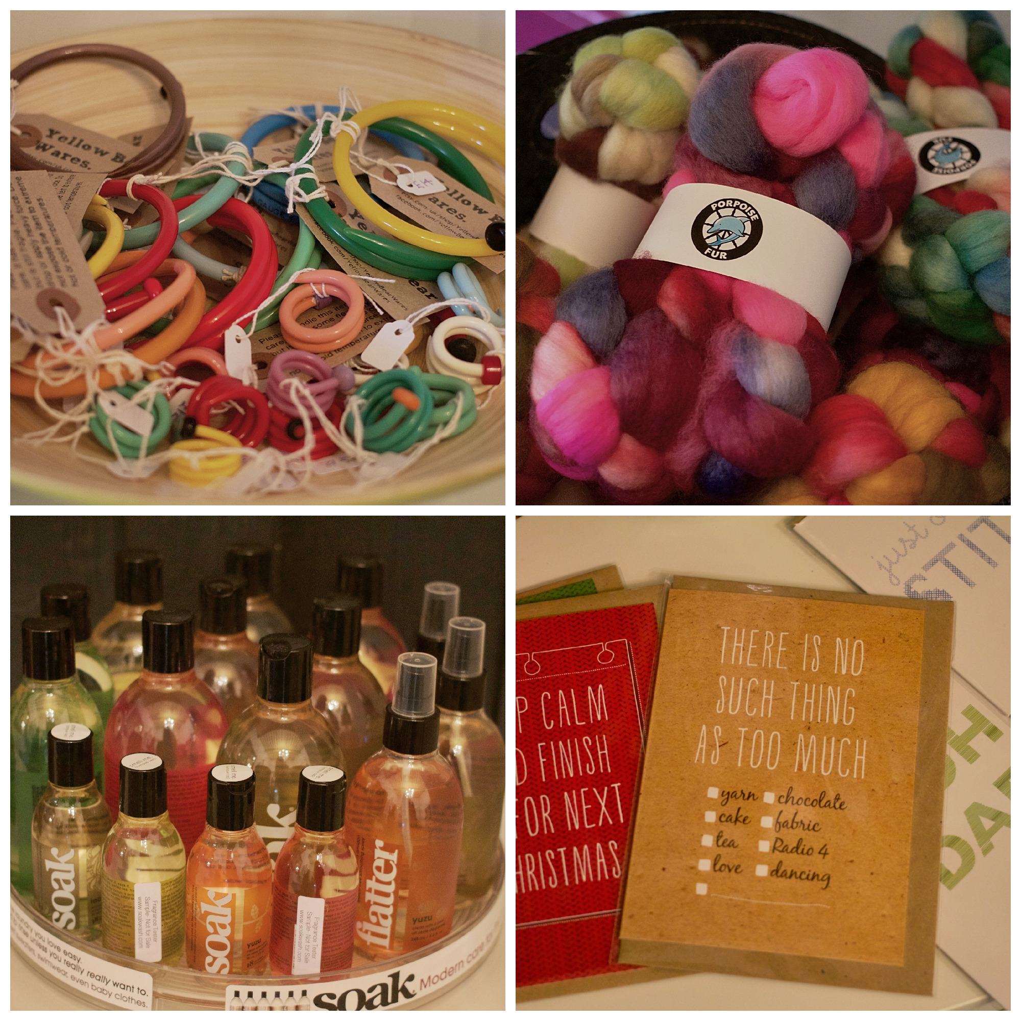 Some more of the lovely offerings for knitters and fibre-folk at A Yarn Story