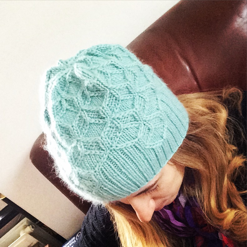 Allison's finished Beeswax Hat