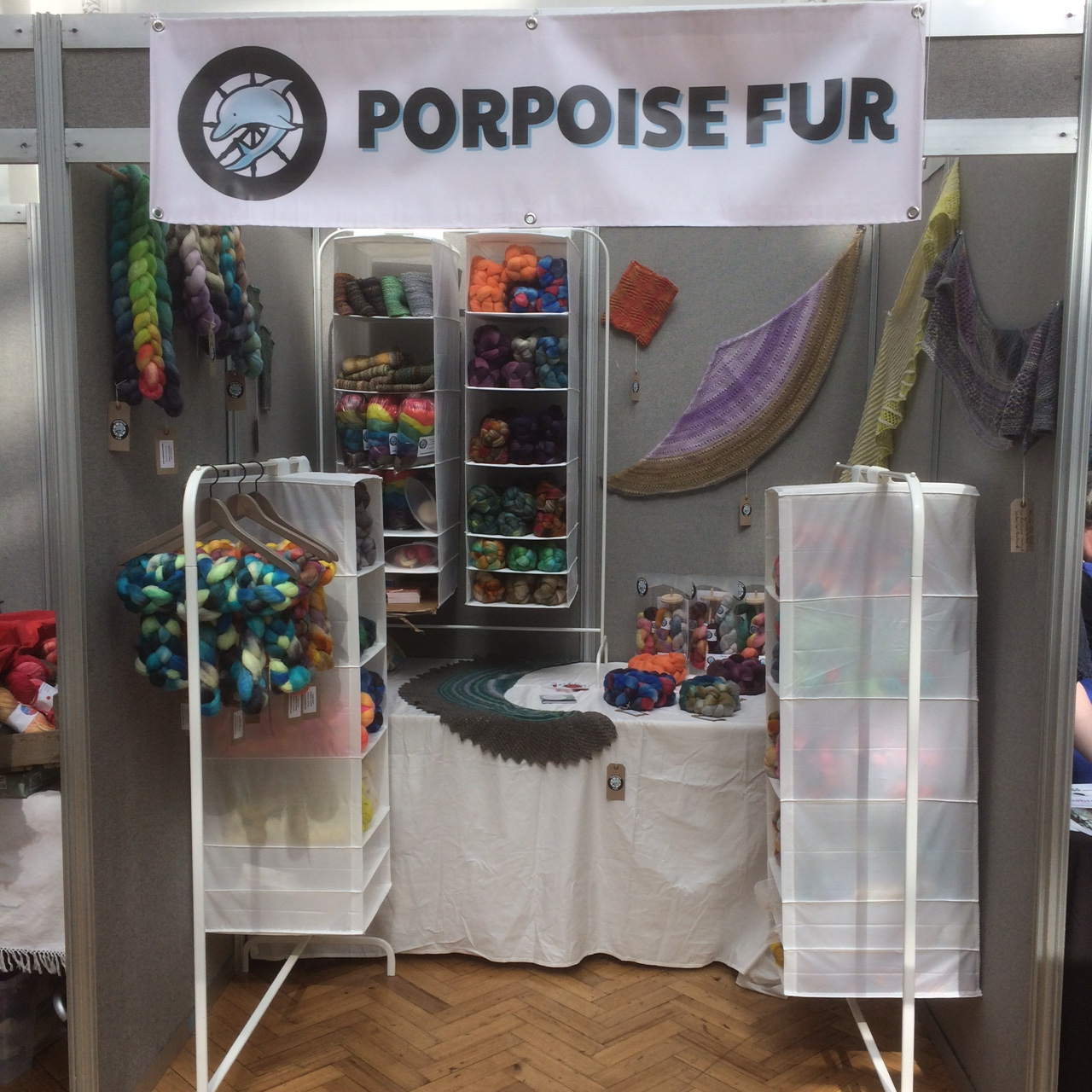 The yummy Porpoise Fur fibre booth all set up and ready to go!
