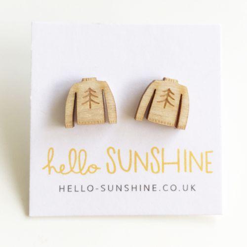 Christmas jumper earrings - photo courtesy of Hello Sunshine