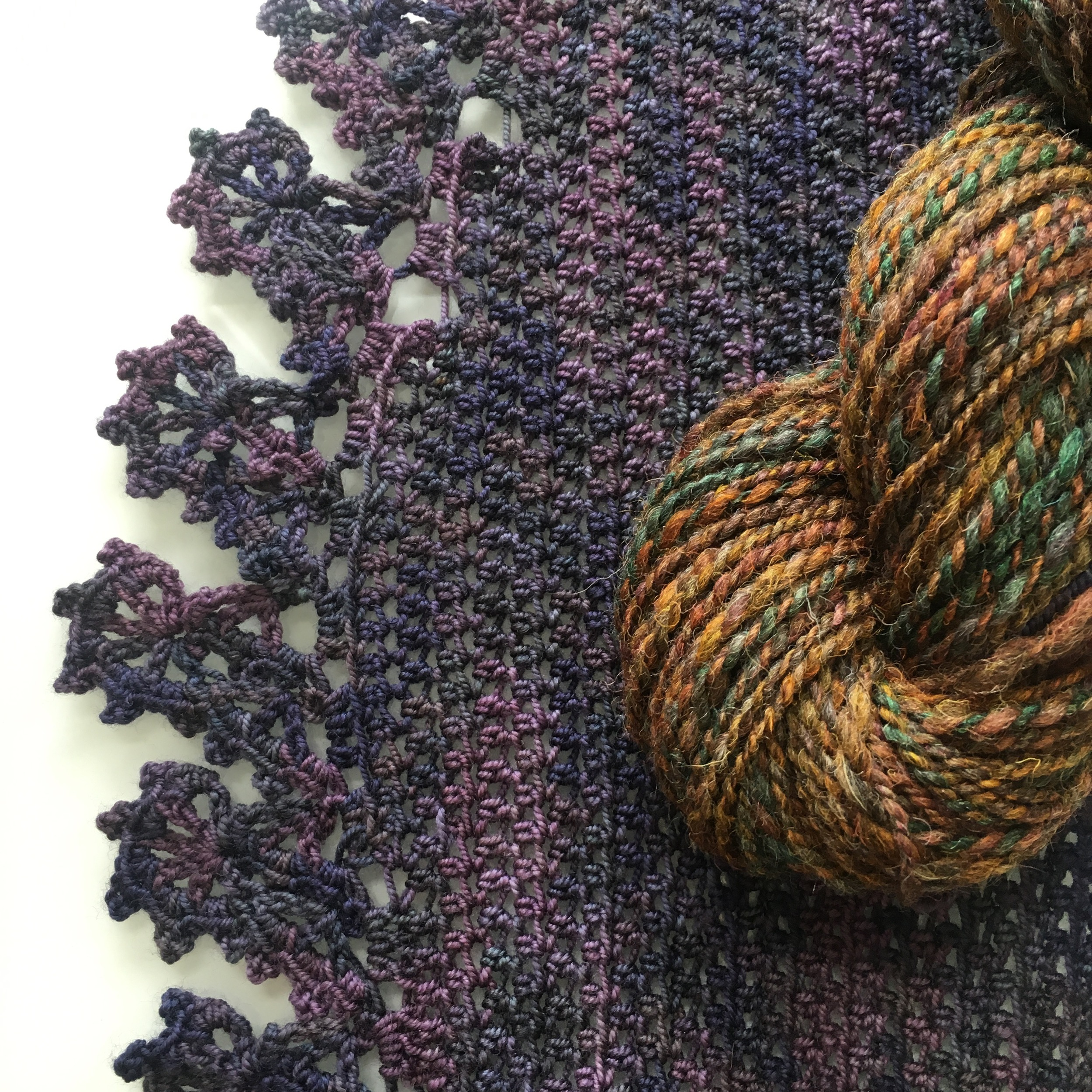 Allison's crochet and handspun finishes