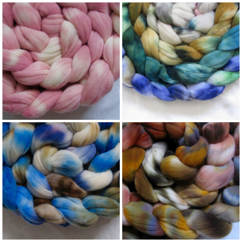 What Rachel has been working on...( Tour de Fleece colourways for Porpoise Fur )