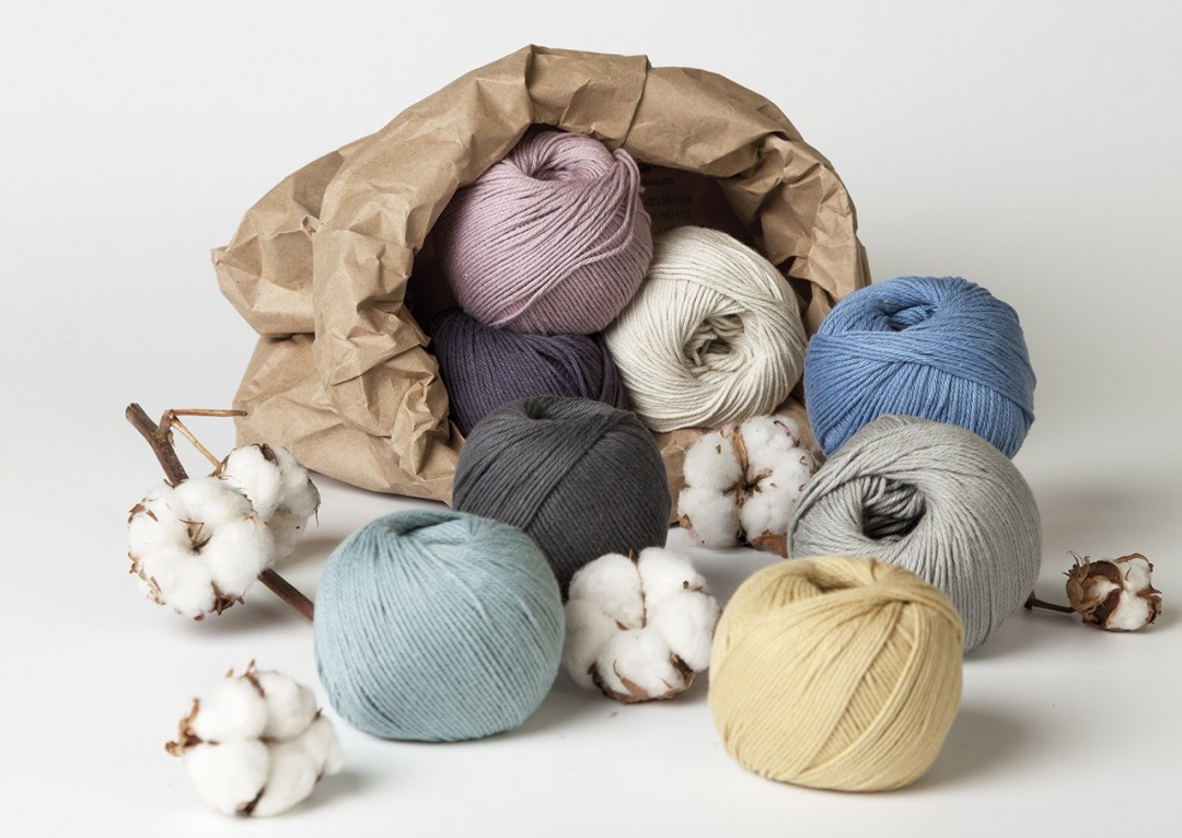 The latest yarn from Erika Knight is Gossypium Cotton in eight wonderful, soft shades