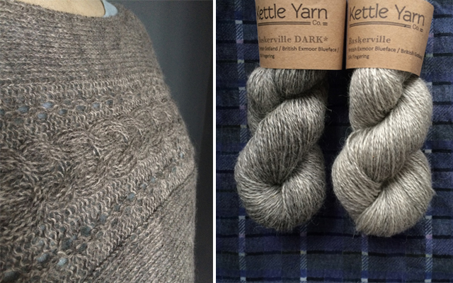 Mmm... rustic Gotland goodness with Kettle Yarn Co.'s new Baskerville DARK