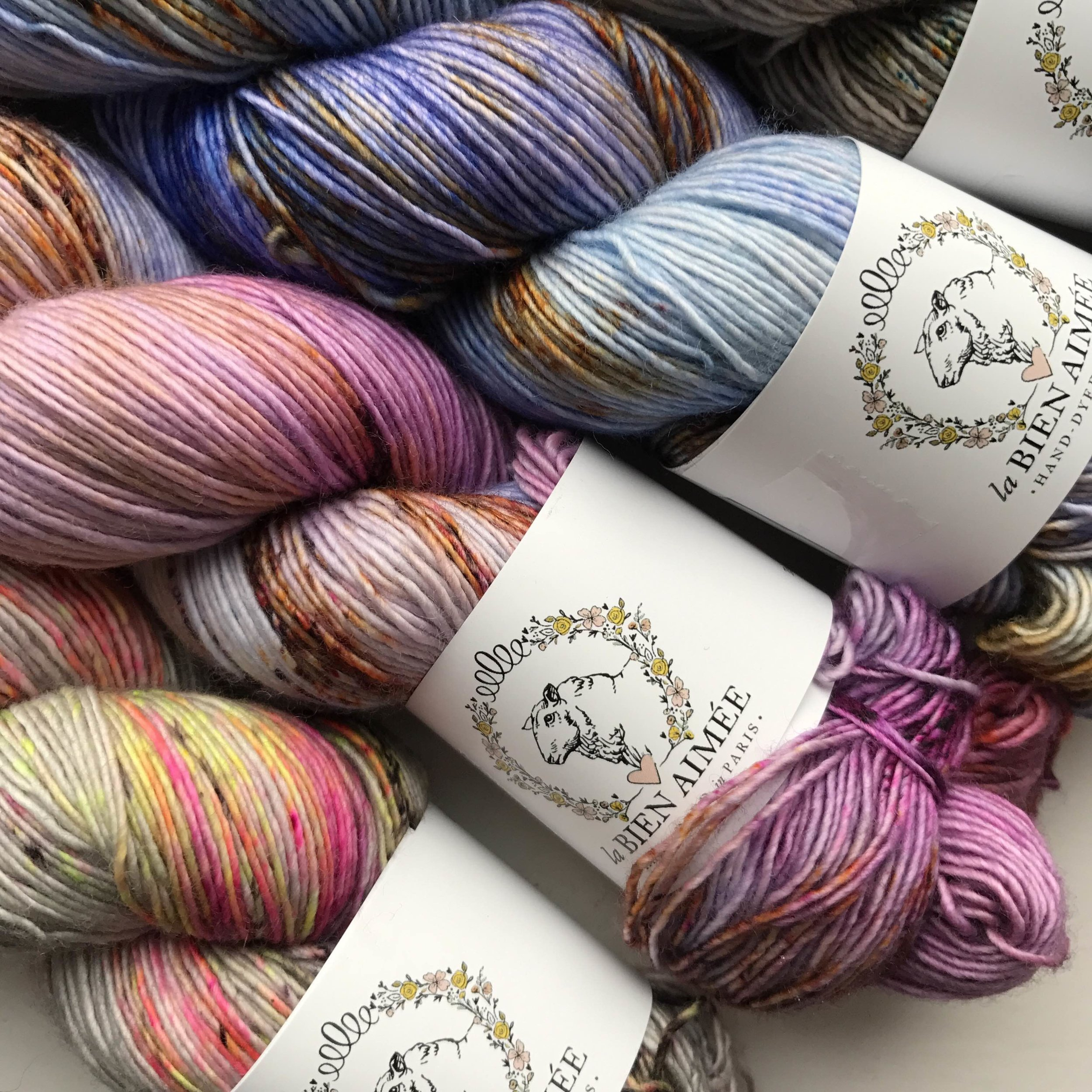 Luscious La Bien Aimée Merino Singles just waiting for you on the A Yarn Story stand at the Yarnporium.