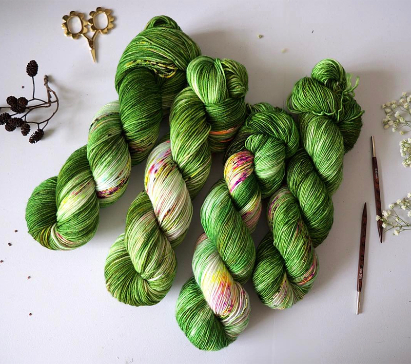 Beautiful new London hand dyed Qing Fibres will make their debut at KWA on Yarn Shop Day