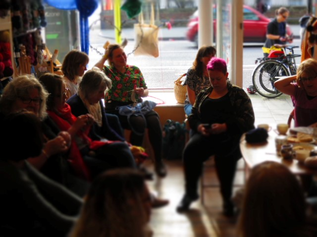Come and sit for a spell and knit and natter at Wild and Woolly - Anna will put the kettle on!