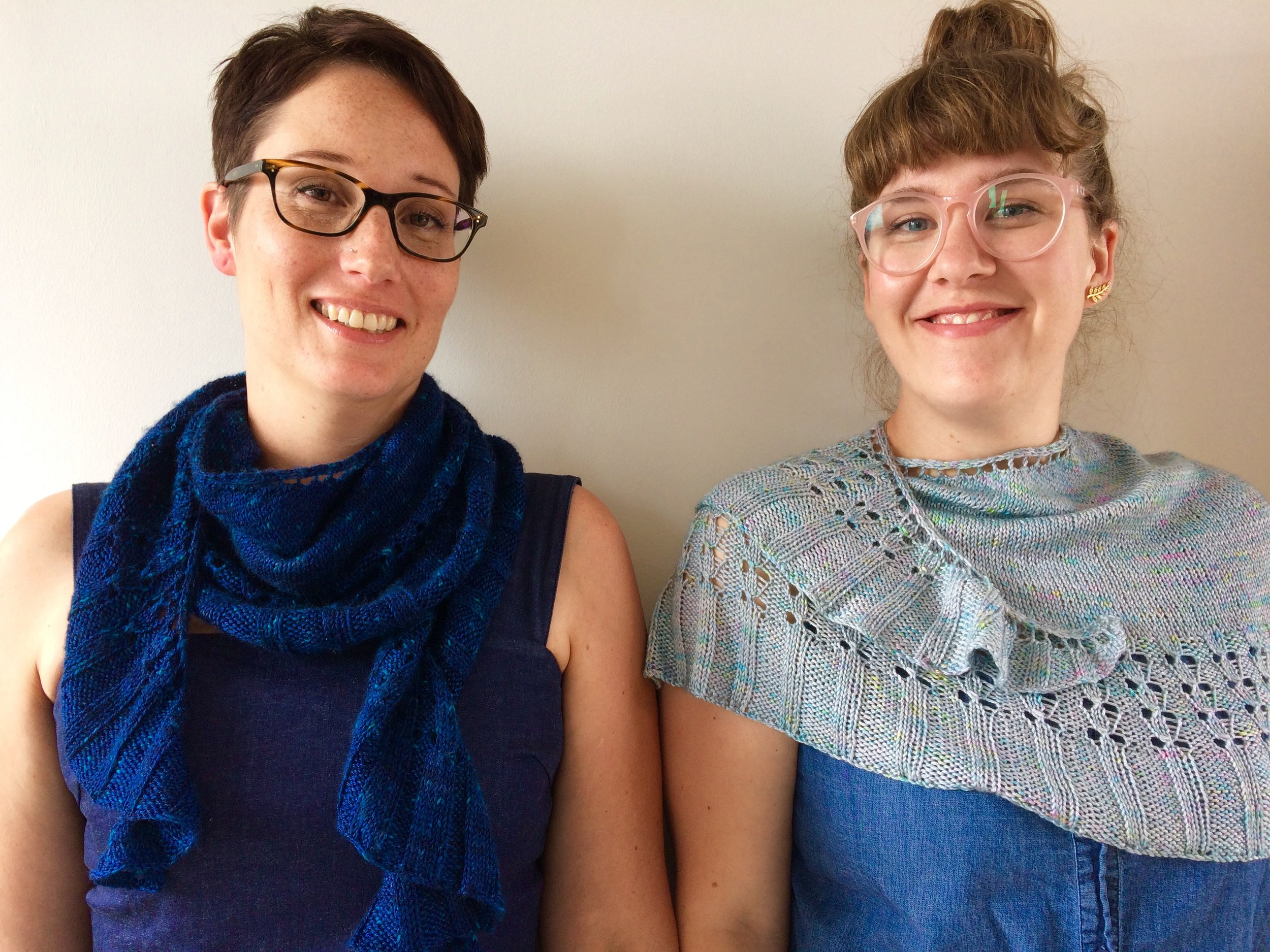 We're excited that Larissa from Travelknitter and Helen from The Wool Kitchen have teamed up with Helen from Curious Handmade with a terrific pattern and yarns for this year's GLYC 5th anniversary KAL!