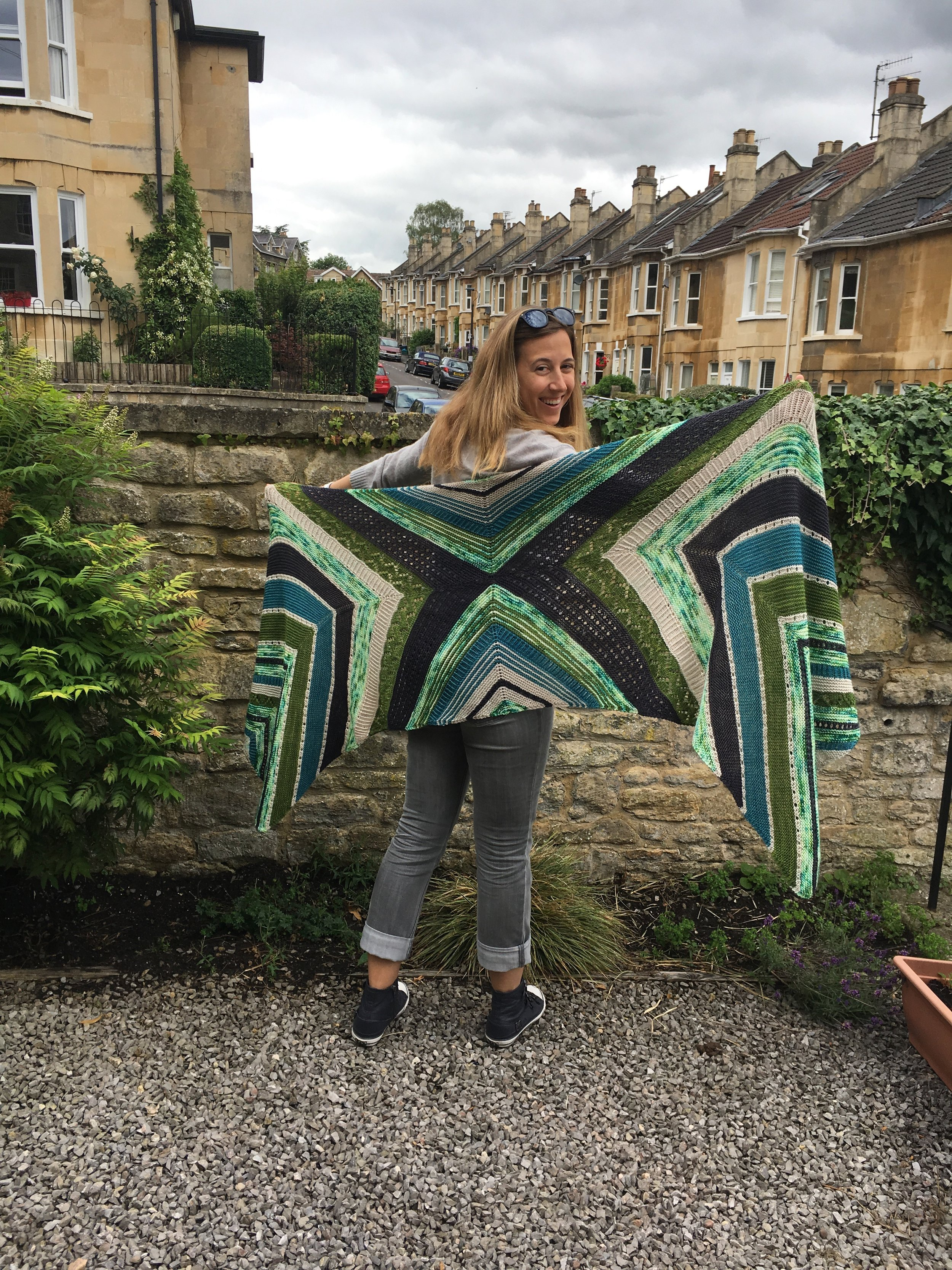 Allison's Starting Point by Joji Locatelli is finally off the needles!