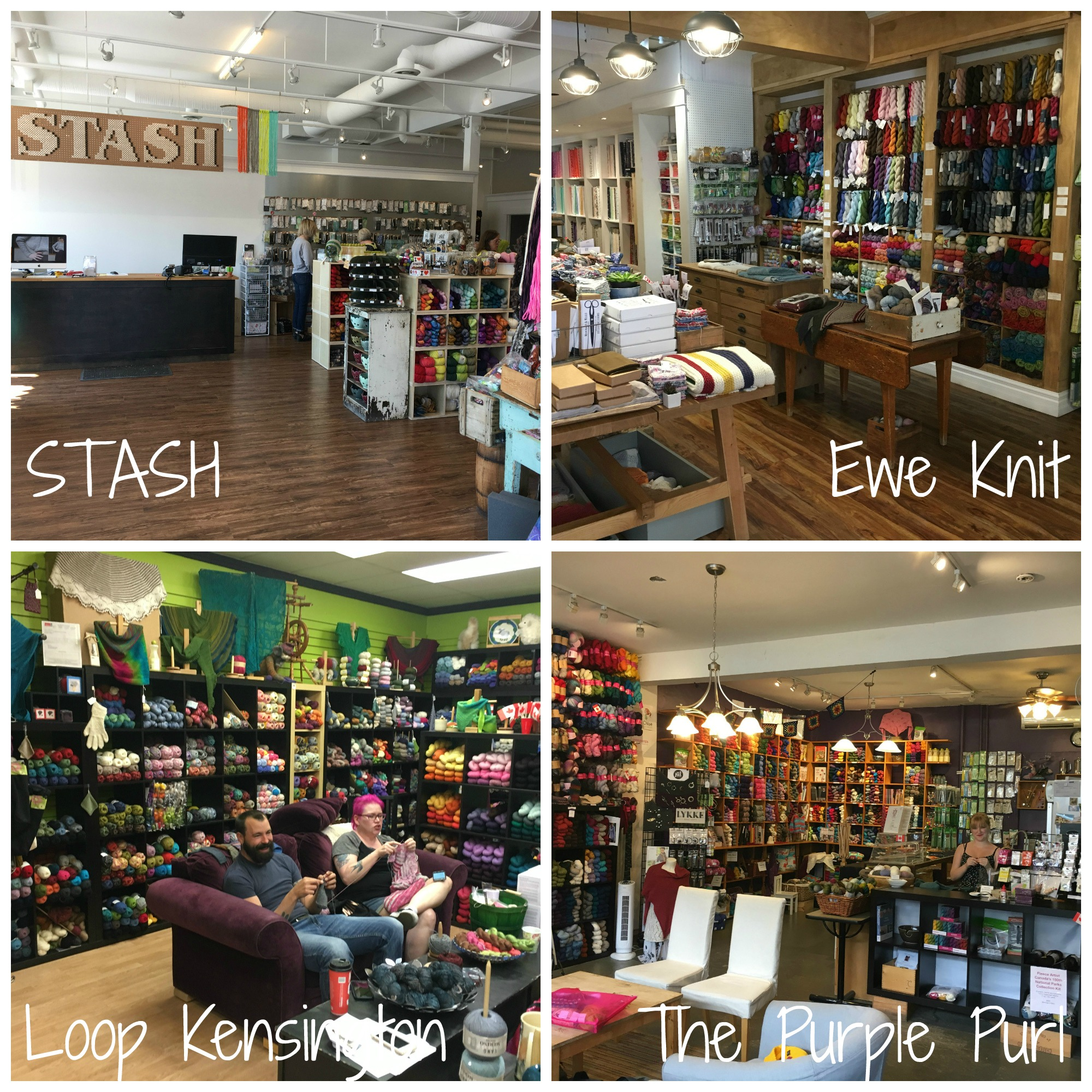 Just a handful of shops on Allison's yarn-y tour of Canada...