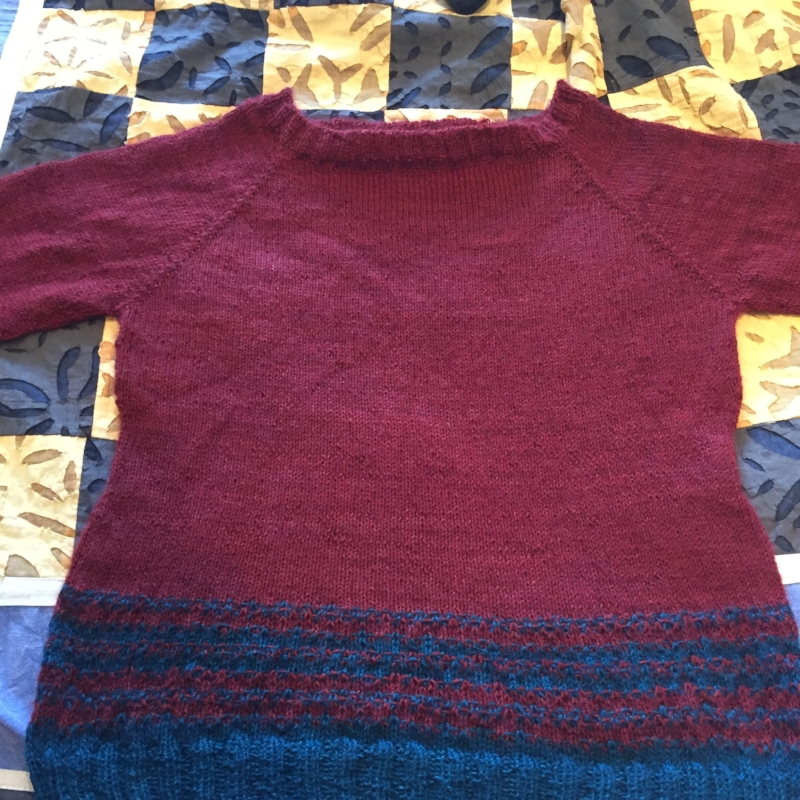 A glorious finish for Rachel: the Marginalia sweater by Karie Westermann from This Thing of Paper