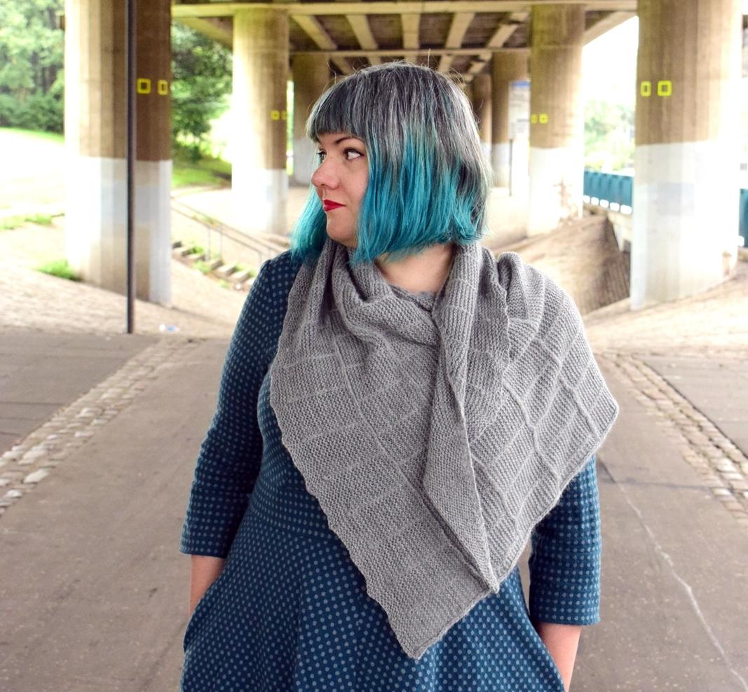 Karie Westermann's Béton Brut shawl in Walcot Yarns Opus