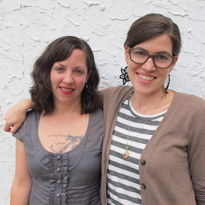 Courtney Kelley and Kate Gagnon Osborn from Kelbourne Woolens