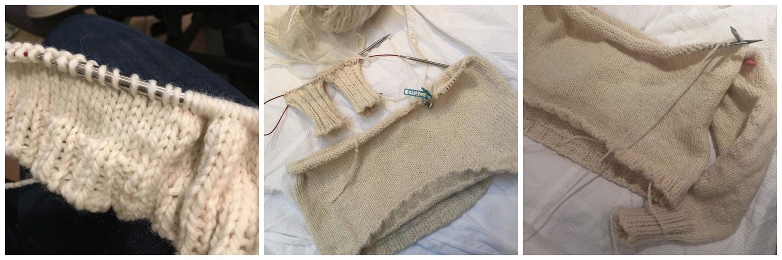 The benefits of bulky yarn: Rachel's Carbeth progress