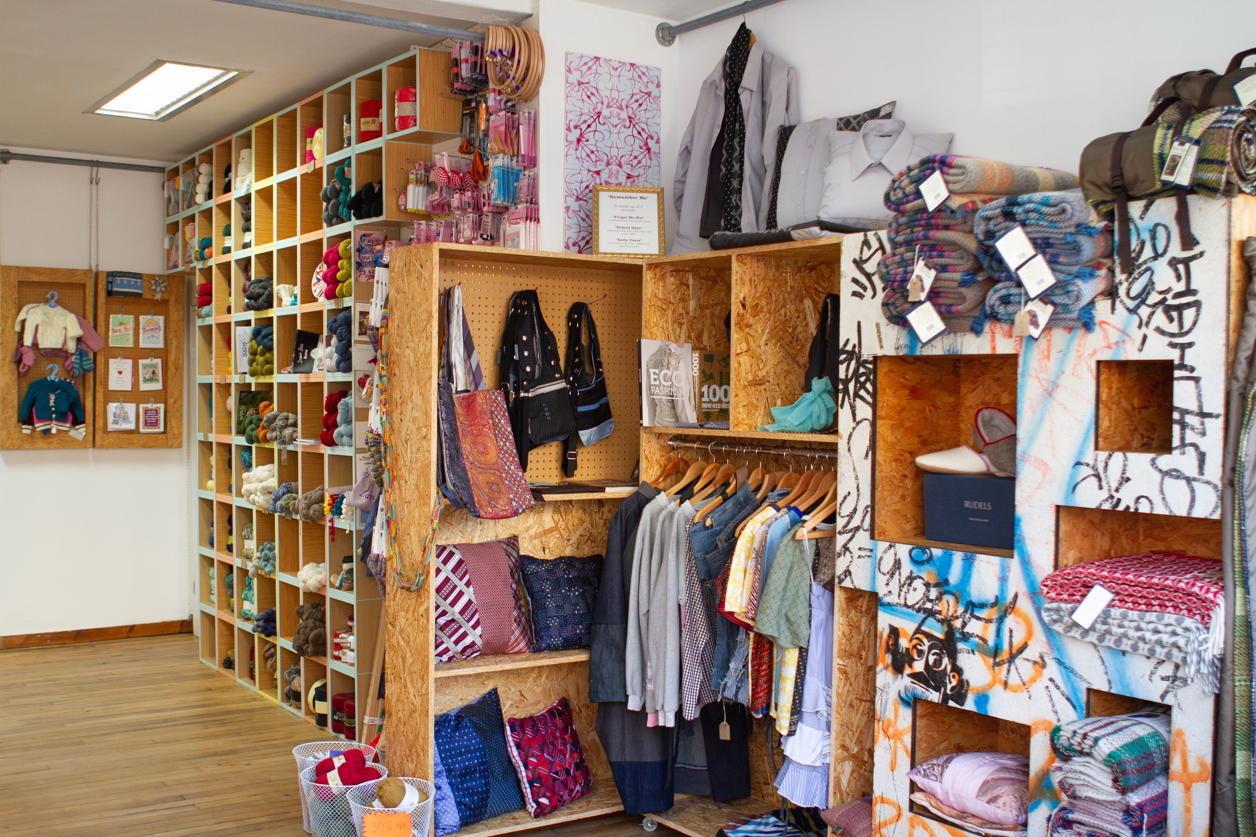 Fabrications is a creative space with lots of inspiration for making and upcycling.