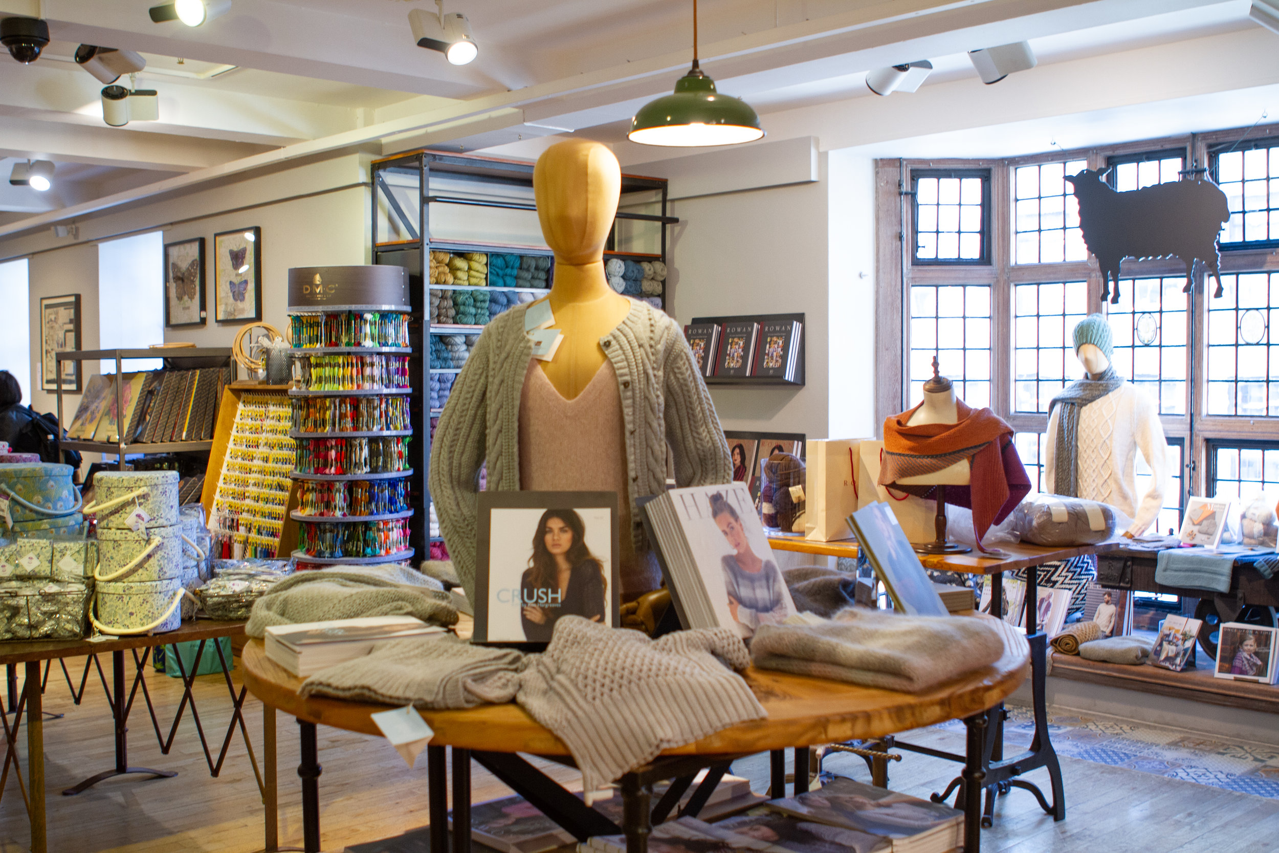 Liberty's haberdashery department features more than just fabric and yarn.