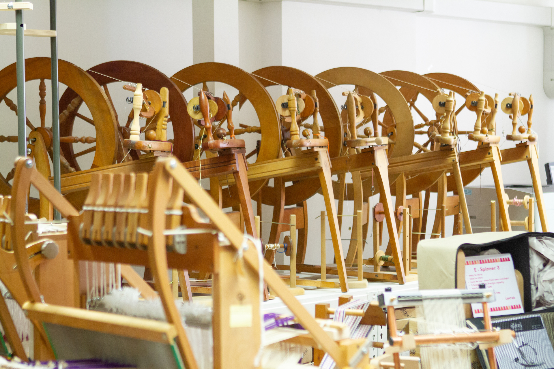 Fancy getting started with spinning or weaving? Handweavers has the tools and equipment to get you going - and workshops too.
