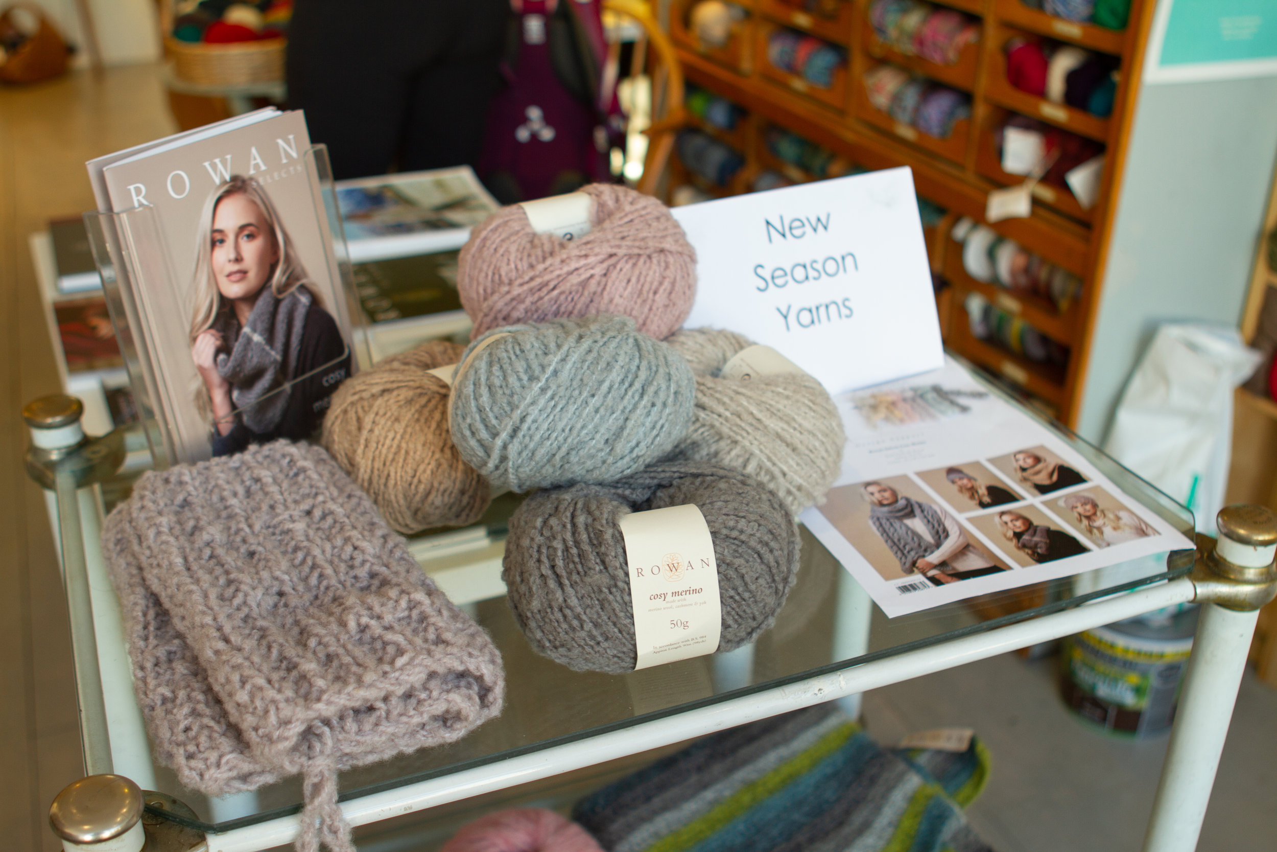 Tempting new yarns and project inspiration is at the ready at Sharp Works!