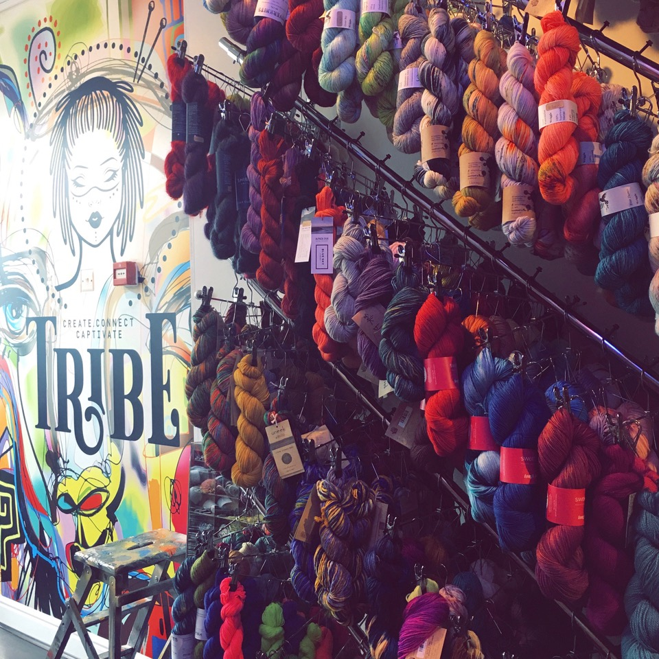 Starting your yarn shop exploring on the west side? Why not start at Tribe in Richmond?