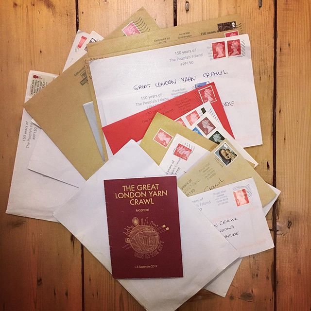 Great London Yarn Crawl passports have been flooding back to us this week. Have you sent yours yet? Some truly fabulous prizes to be won from @looplondonloves @tribeyarnslife @mahliqawire @sweetgeorgia @thisgoldenfleece ! . . . #greatlondonyarncrawl #greatlondonyarncrawl2019 #glyc2019 #yitcyarnadventures
