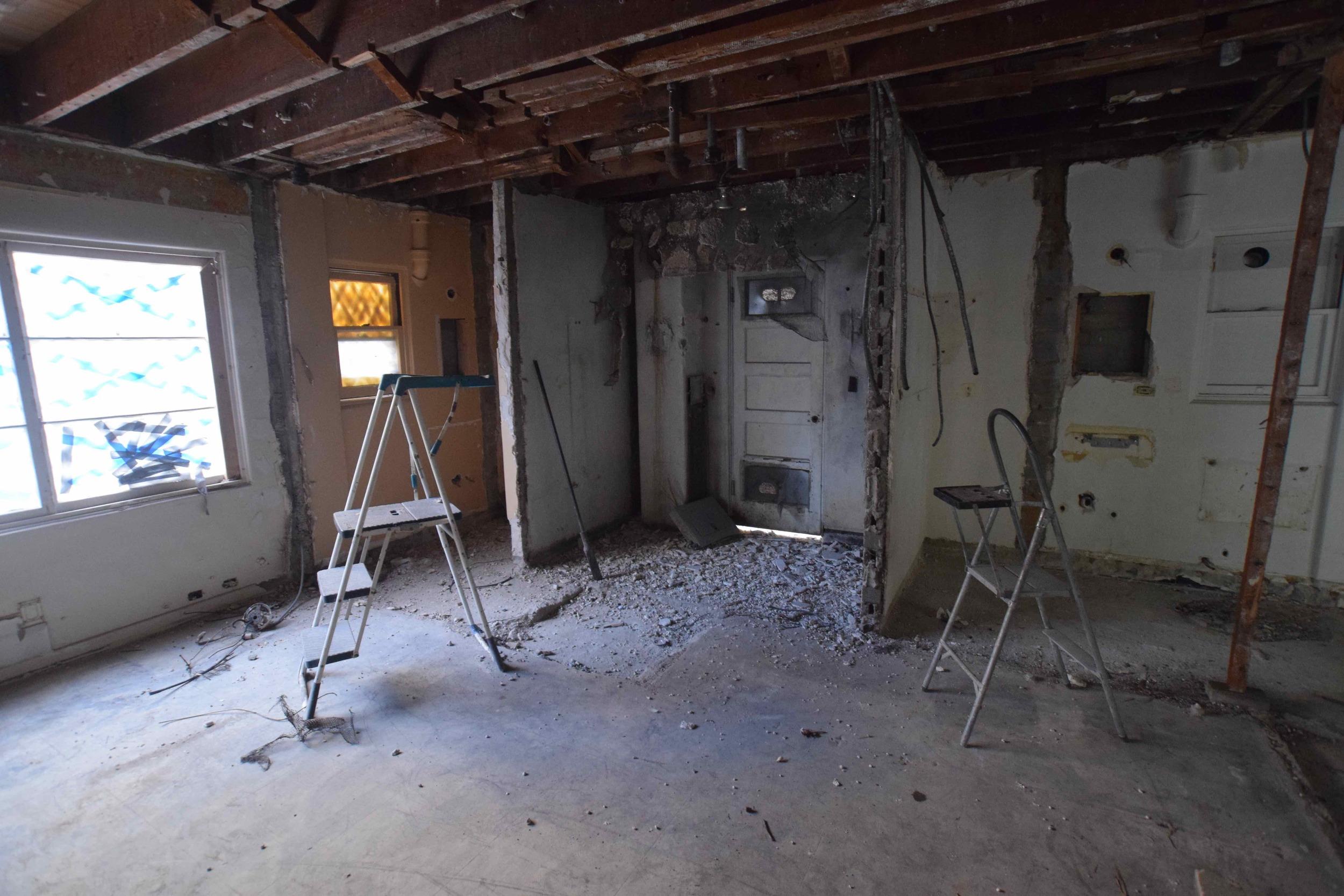 Corner at Old Mechanical Room