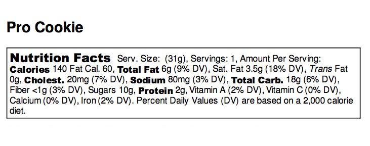 Pro Cookie - Nutrition Label - Medical Choc Chip - no ingredients.jpg