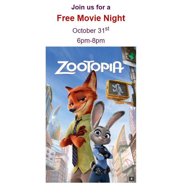 Gather up the family and join us for a safe and entertaining movie night.  Free Pizza, KFC, and treats will be served. The movie will be played inside the prayer room.  Students must be under parent supervision at all times, NO DROP OFFS!       *Event is for Meraj students and siblings are welcome. Students are welcome to come dressed in their favorite (appropriate), pajamas!