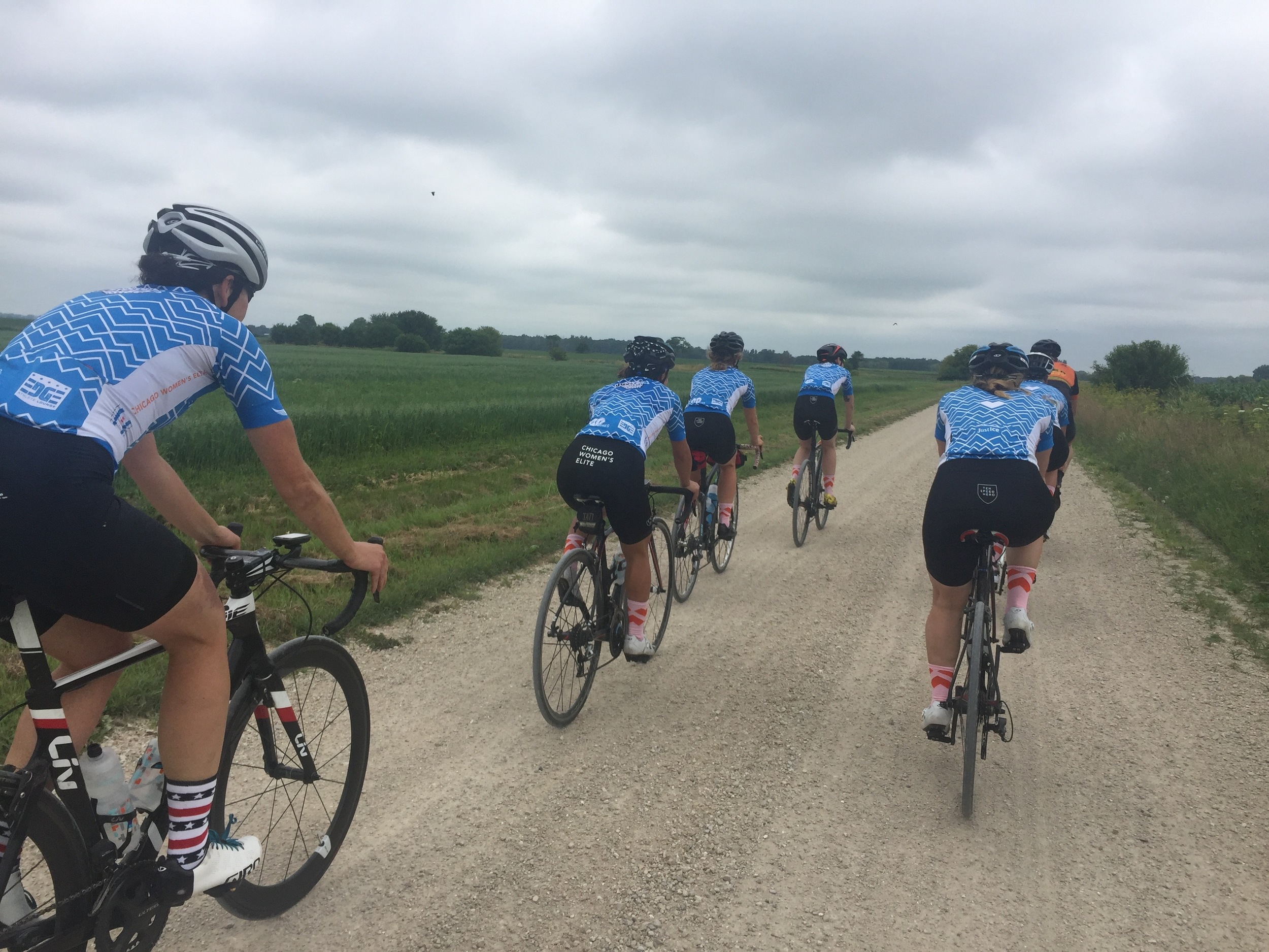 CWEC Riders on a section of the course