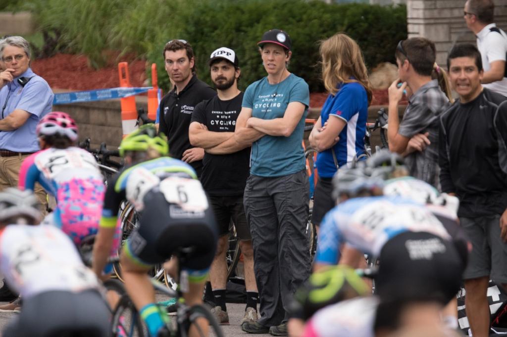 Alison & Bobby watch the race unfold