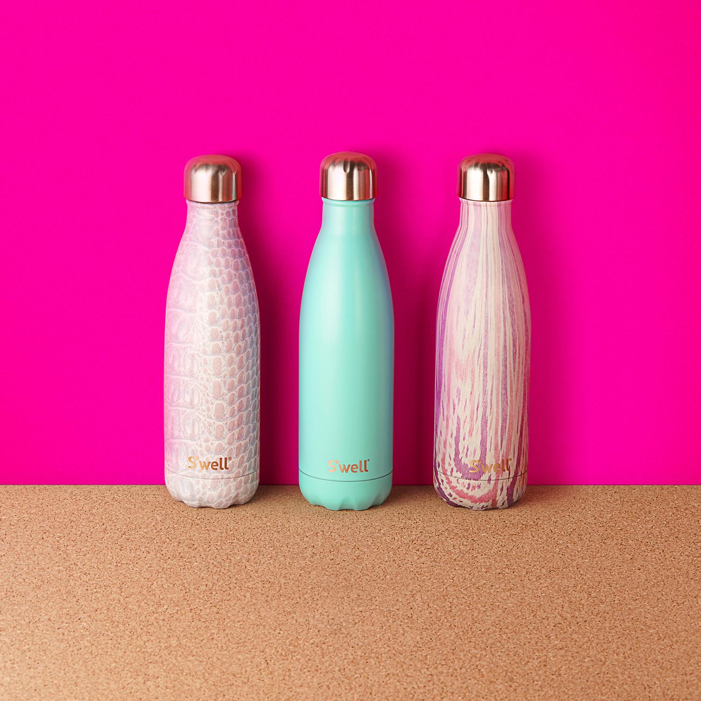 Bottles on Pink